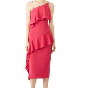 NWT Keepsake Pink No Love Midi Dress - size S